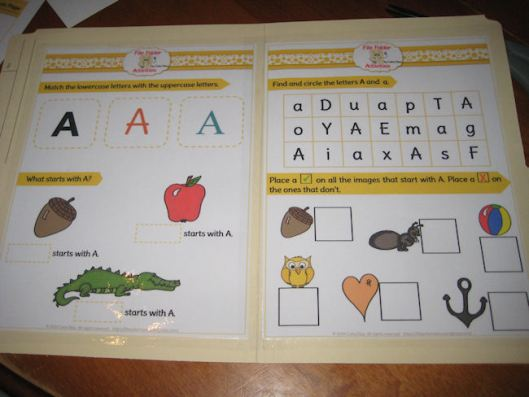 5- Place the pages on the file folder and laminate them onto the folder.